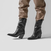 Bronx Embossed Croc boots