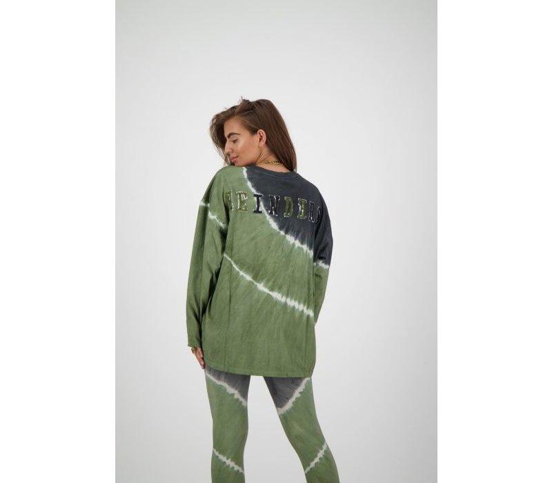 Reinders T-shirt Tie Dye long W2054T