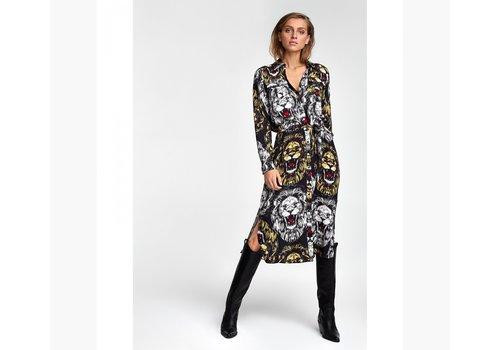 ALIX The Label Alix the label  oversized Lion blouse dress