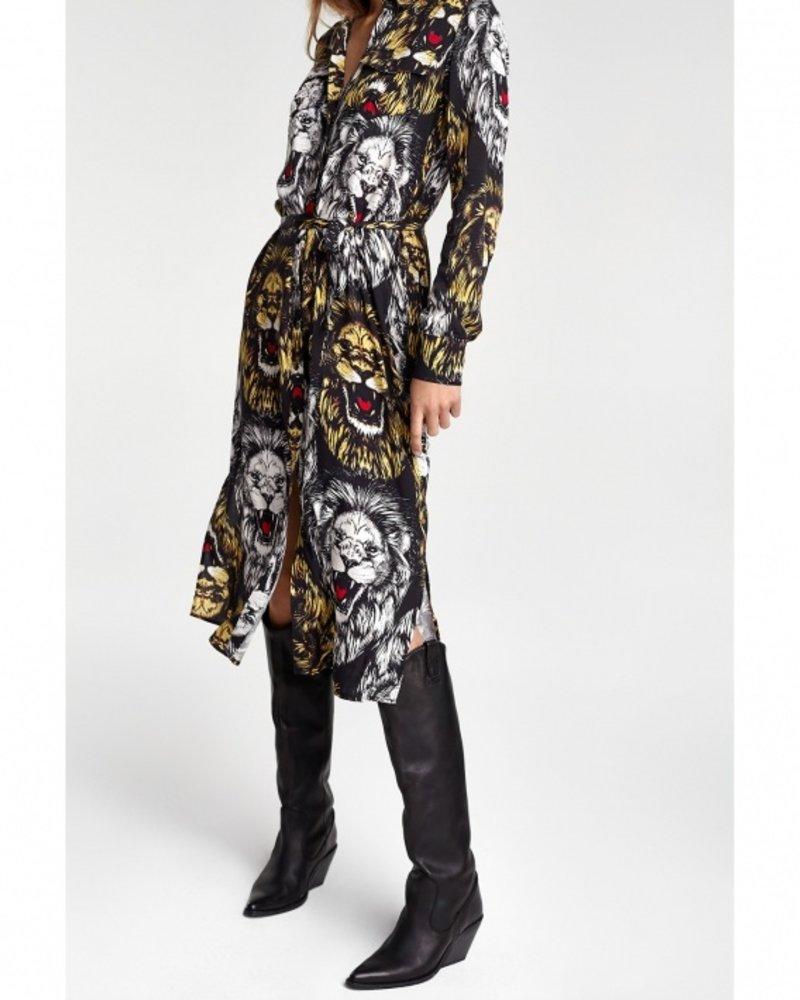 ALIX The Label Alix the label  oversized Lion blouse dress 205348702