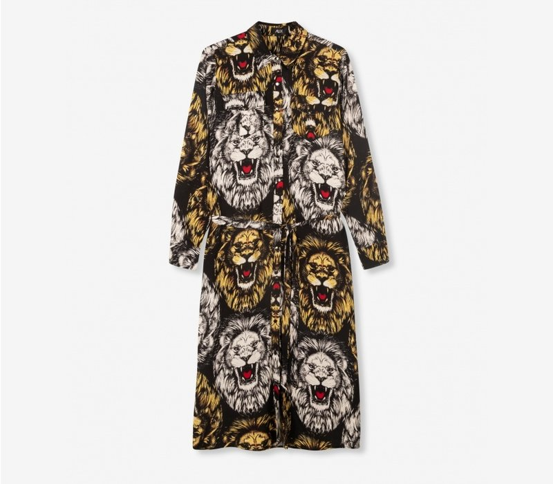 Alix oversized Lion blouse dress 205348702