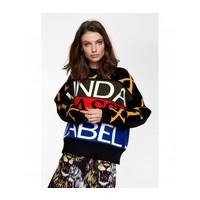 Alix text jacuquard sweater 205867748