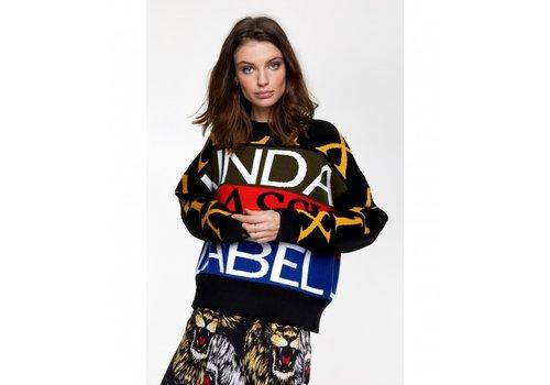 ALIX The Label Alix text jacuquard sweater 205867748