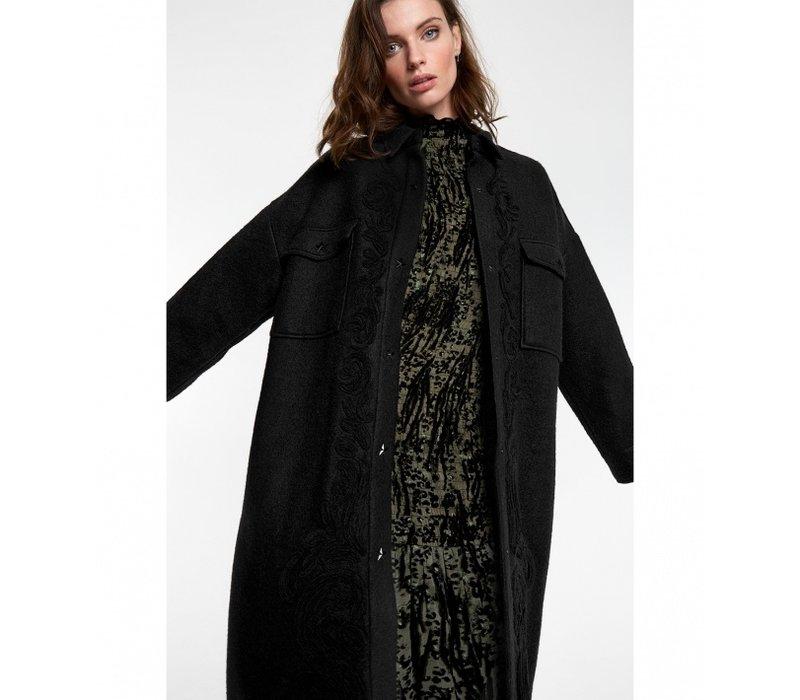 Alix embroidered wool jacket 205428662