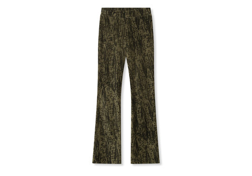 ALIX The Label Alix Animal rib flared pants 205154679