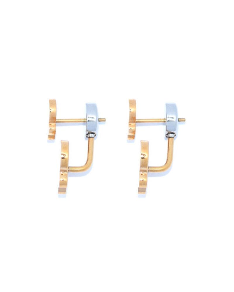 Juli Dans Jewels Mini-me double butterfly Earrings