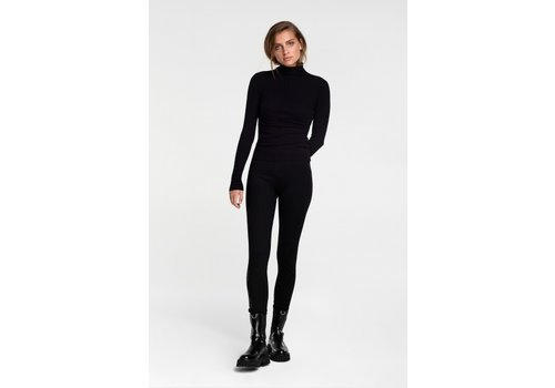 ALIX The Label Alix Knitted fitted turtle neck top