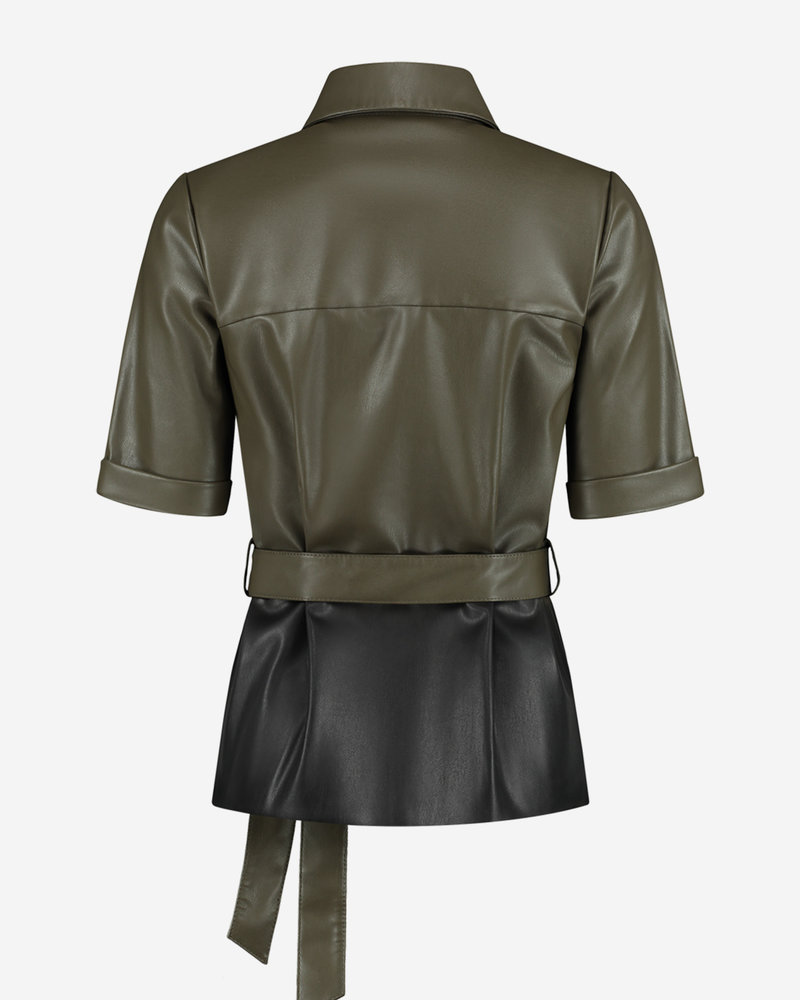Fifth House Fifth House Momo belted blouse FH6-966