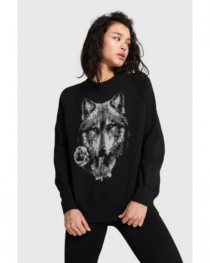 ALIX The Label Alix the label pullover with wolves jacquard 207816815