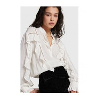 Alix woven blouse with tapes and ruffles 207960811