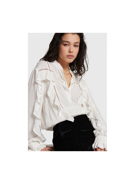 ALIX The Label Alix the label blouse with tapes and ruffles