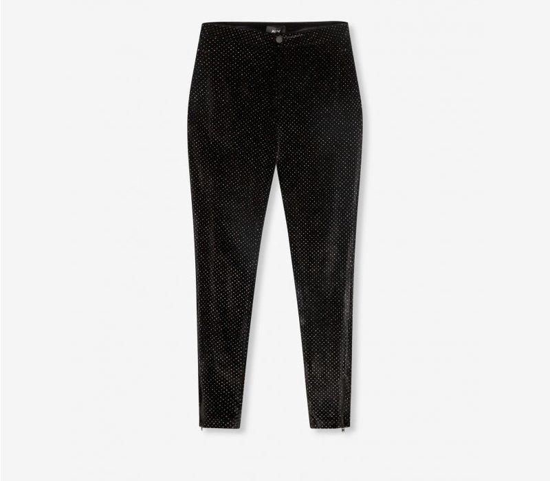 Alix  glitter dot velvet skinny pants 207123799