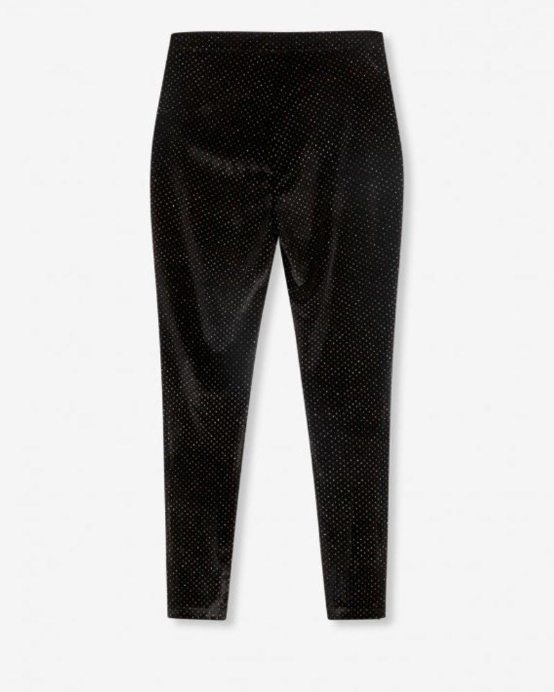 ALIX The Label Alix  glitter dot velvet skinny pants 207123799