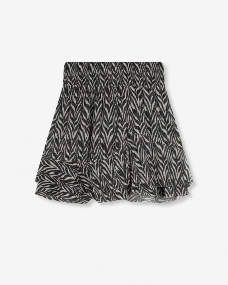 ALIX The Label Alix the label ladies knitted zebra lurex skirt