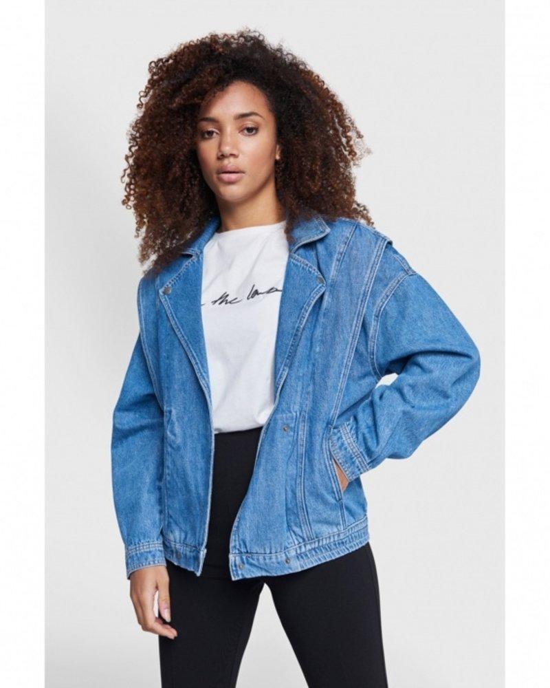 ALIX The Label Alix denim biker jacket 2102432860