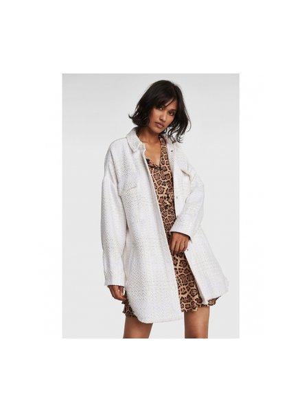 ALIX The Label Alix oversized shiny bouclé jacket 2103457856