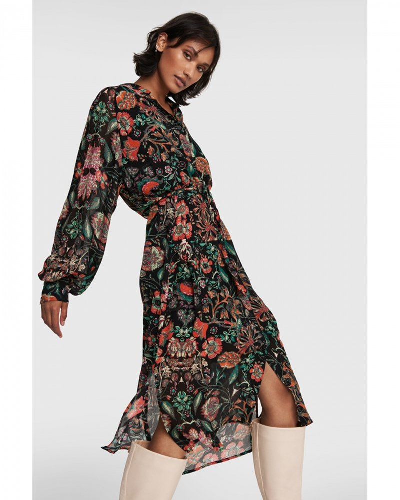 ALIX The Label Alix multicolour chiffon blouse dress 2103375881