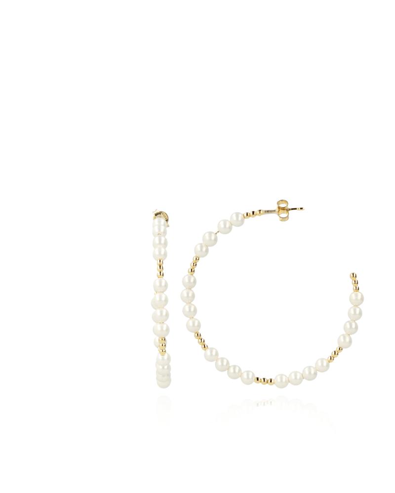 LOTT. GIOIELLI Lott earring hoop with glass stones pearl
