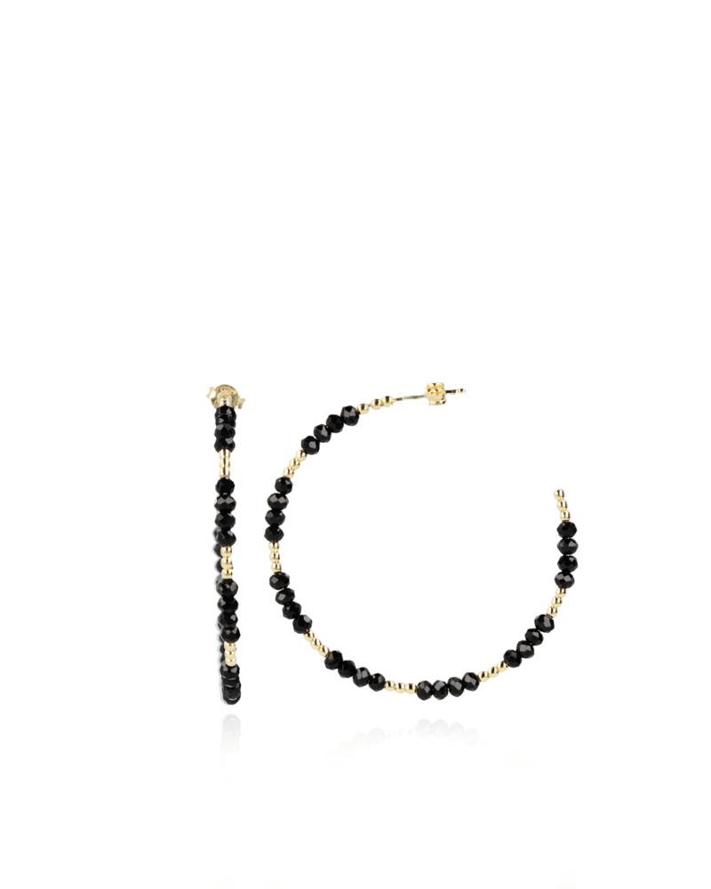 Lott earring hoop with glass stones