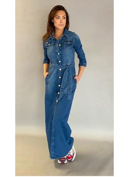 Est'Seven Est'Button down jeans dress