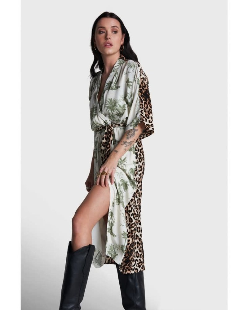 ALIX The Label Alix tropical Leopard wrap dress 2104306136