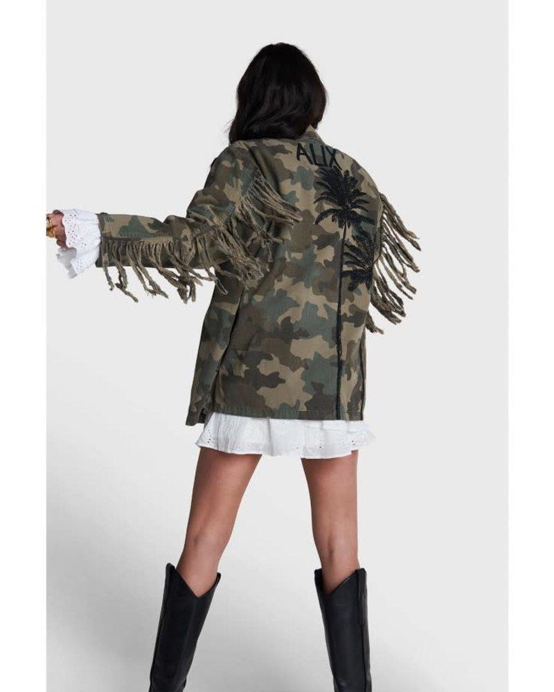 ALIX The Label Alix camouflage jacket  with fringes  2104401145