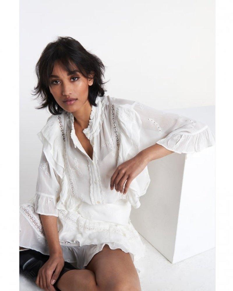 ALIX The Label Alix embroidery chiffon blouse 2106912038