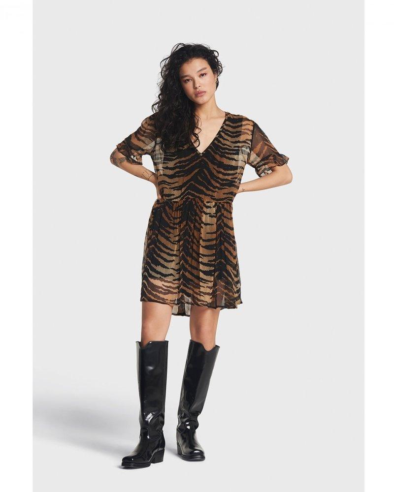 ALIX The Label Alix tiger crinkle dress 2106313035