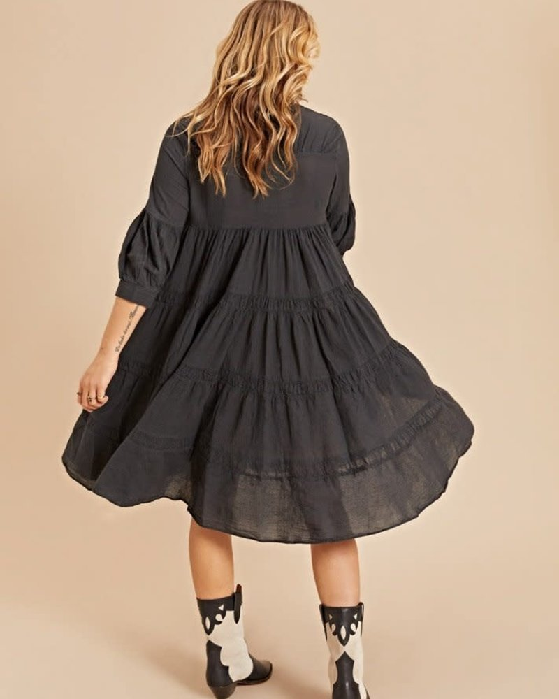 Devotion midi dress with ruffle