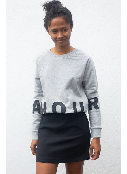 Grey Belly Sweat Amour