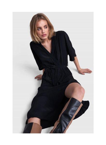 ALIX The Label Alix shirt crêpe long dress 2108357108