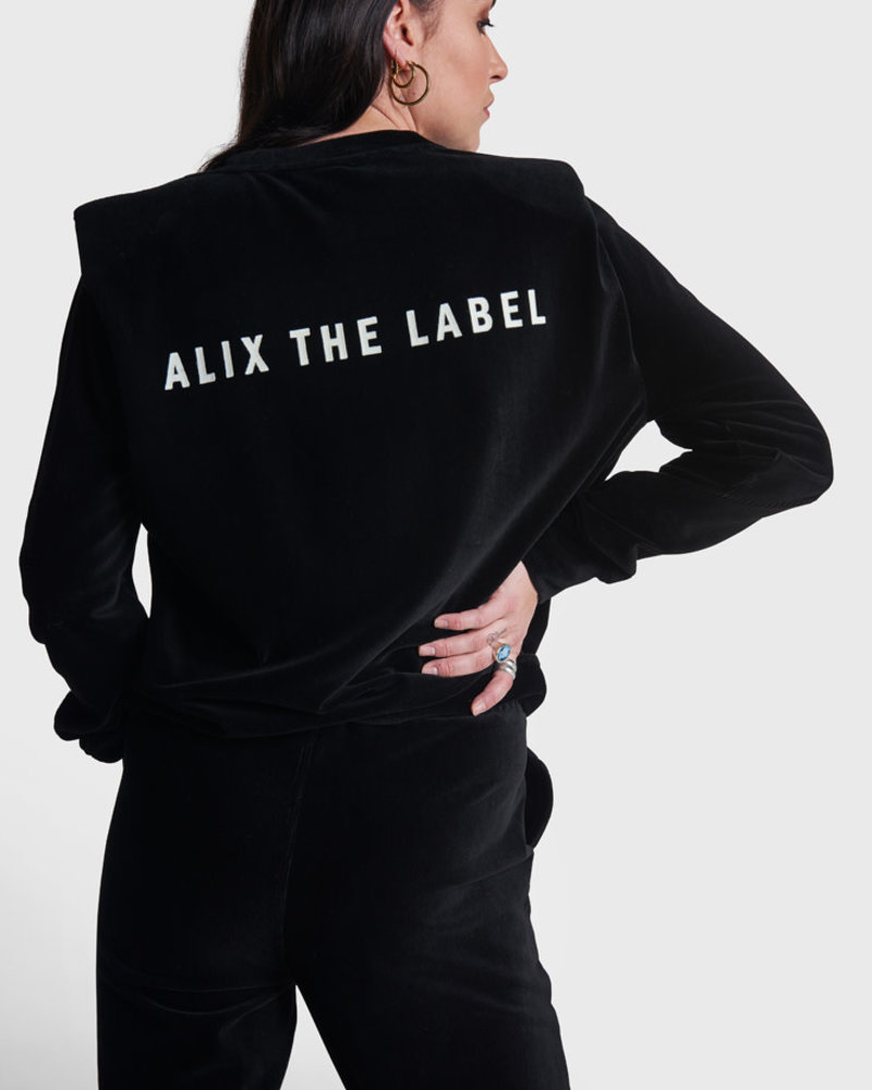 ALIX The Label Alix rib velvet Sweater 210884