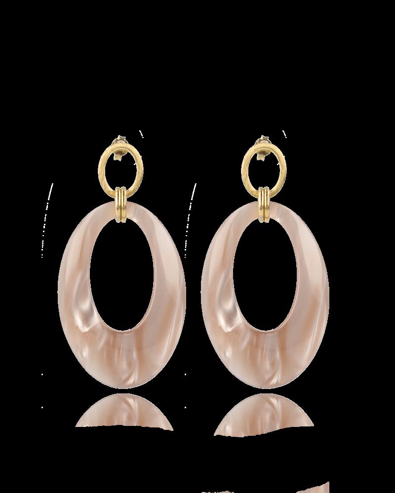 LOTT. GIOIELLI Lott Open Oval Teardrop Nude Pearl
