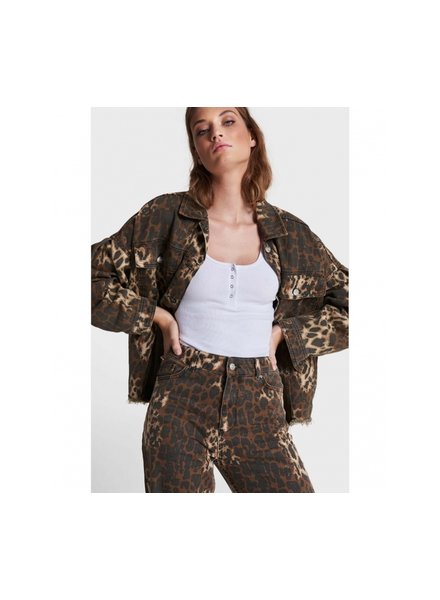 ALIX The Label Alix oversized denim animal jacket 2109467326