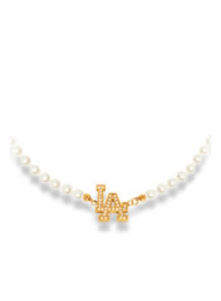 La Sisters LA sisters Pearl choker necklace