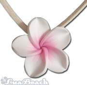 Lua Beach Lua Beach Hawai Clay necklace Wit  roze