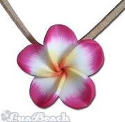 Lua Beach Lua Beach Hawai Clay Necklace geel roze