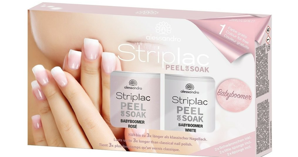 Gebruiksaanwijzing Striplac Baby Boomer Nails