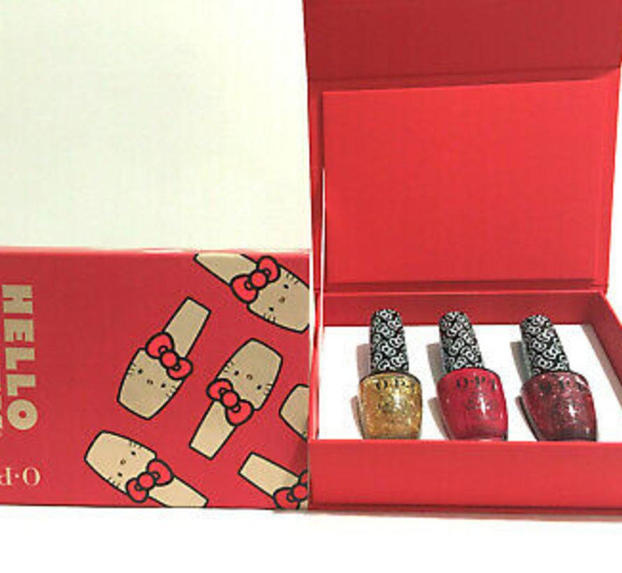 Hello Kitty  nagellak set RED