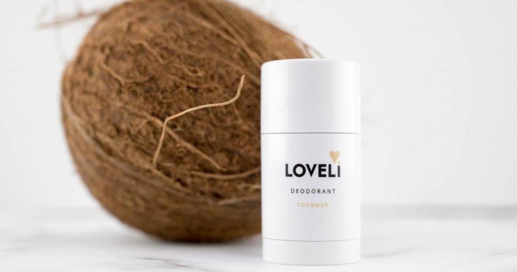 Tijdelijke zomerse deo van Loveli; COCONUT