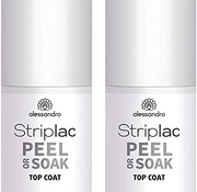 Alessandro Striplac  topcoat 8ml Gel Nagellak duo