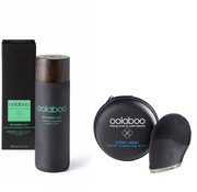 Oolaboo 1 step skin regulating nutrition wash + OOOO-SONIC facial cleansing brush, incl. storage case  200ml