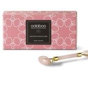 Oolaboo rose quartz beauty roller in luxury black pouch
