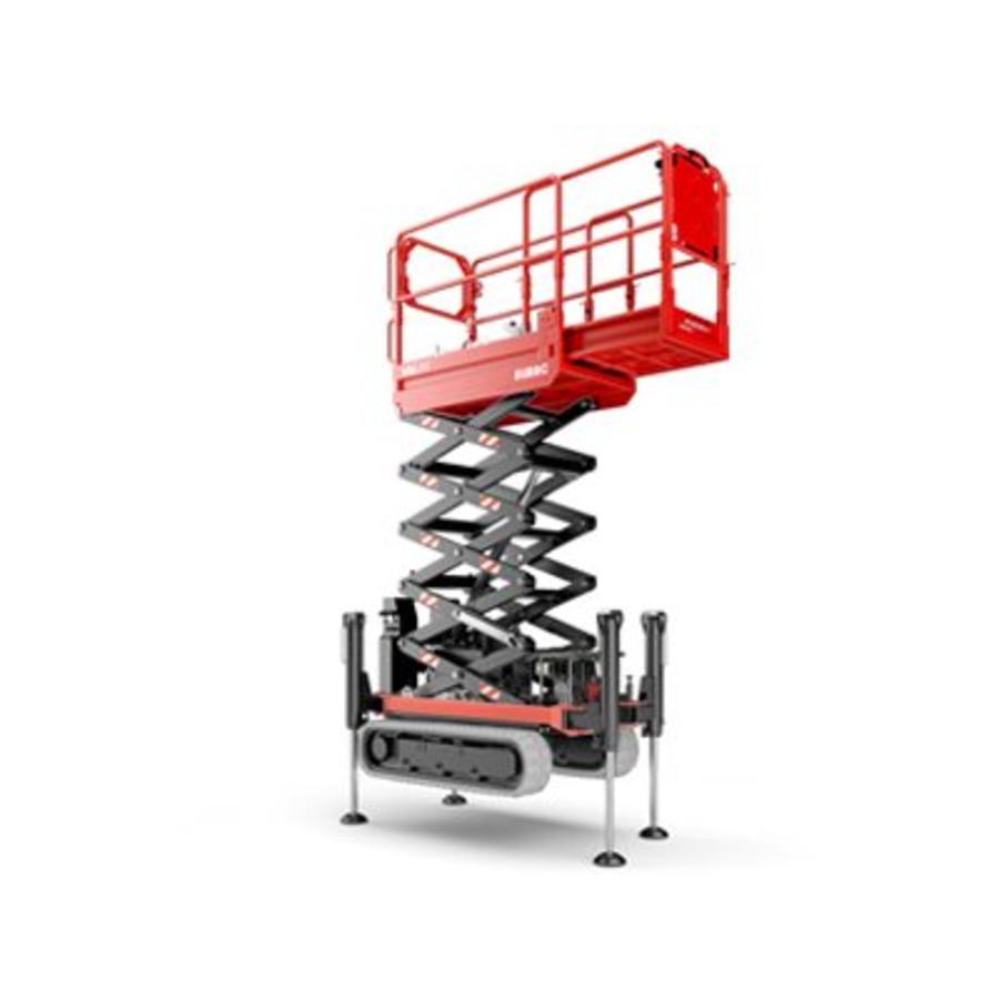 Rupsschaarlift met steunpoten 7,8 meter huren