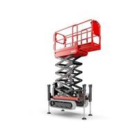 Rupsschaarlift met steunpoten 14 meter huren
