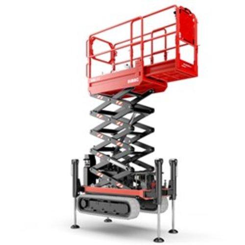 Rupsschaarlift met steunpoten 14 meter