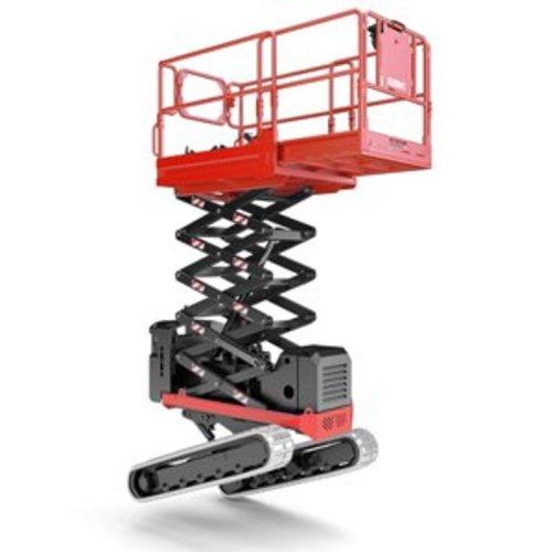 Rupsschaarlift met  Zelfnivellerend rupsonderstel 7,9 meter