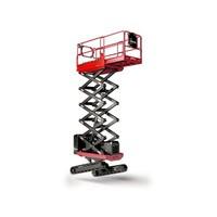 Rupsschaarlift met Zelfnivellerend rupsonderstel 10 meter huren