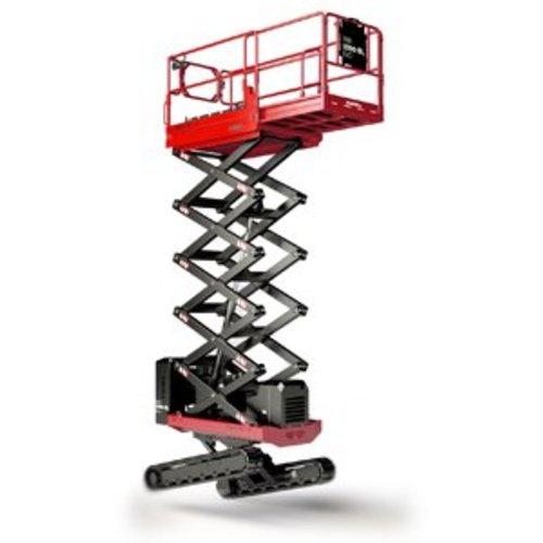 Rupsschaarlift met steunpoten 10 meter