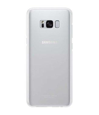 GSM Westland Samsung Galaxy S8 Plus Clear Cover (Silver) - EF-QG955CS
